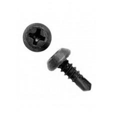 Саморезы 3,5х11мм клопы черные, со сверлом, РН2