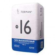 Гипс высокопрочный Forman / Форман Г-16 40кг
